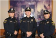 Officer Murphy, Officer Prudente and Officer Russell at Swearing In Ceremony