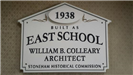 East School Historic House Marker Sign