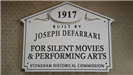 Theatre Historic House Marker Sign