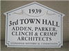 Town Hall Historic House Marker Sign