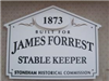 91 Marble Street Historic House Marker Sign