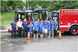 Stoneham Firefighters Association Making a Donation to Boy Scout Troop 513 at a Recent Fundraising E