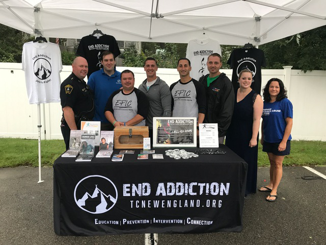 Group Photo at the End Addiction Booth