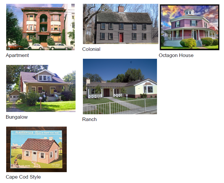 Architectural styles common in Stoneham