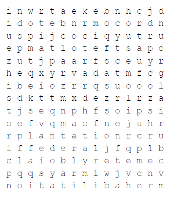 wordsearch text