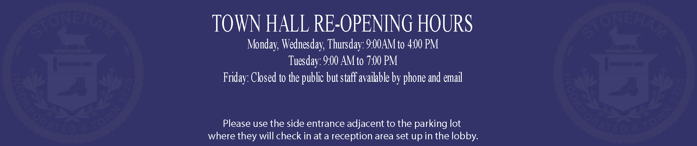 Townhall-Reopening