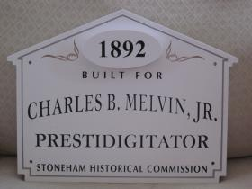198 Franklin Street Historic House Marker Sign