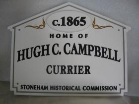 21 Collincote Street Historic House Marker Sign