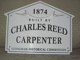49 Bow Street Historic House Marker Sign