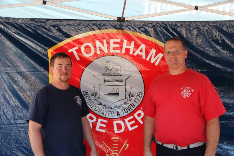 Firefighters Dan Kelleher and Mike Labriola at the Touch a Truck Event
