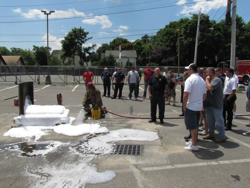 Stoneham Firefighters Recently Completed a Training Class on Fighting Ethanol Fires