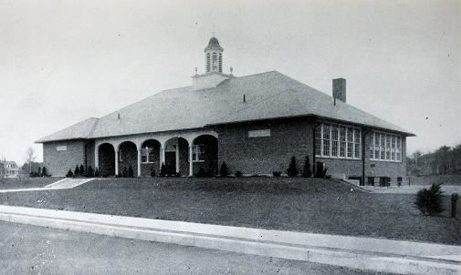 Original Postcard of the 1938 East School